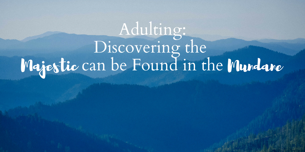 Adulting: Discovering the Majestic can be Found in the Mundane - jacquelinejacquelineroe.wordpress.com